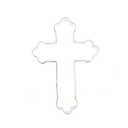 Halloween Croix en acier inoxydable Cutter Biscuit Cookie Mold Baking Décoration outil S *