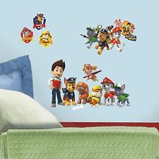 PAW PATROL 37 WALL DECALS Ryder Puppies Stickers Boys Puppy Bedroom Decor NEW
