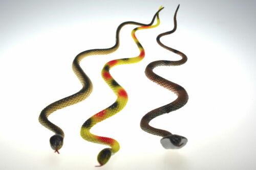 3 Stück Kunststoffschlange 62 cm Plastikschlange Schlange Kunstschlange