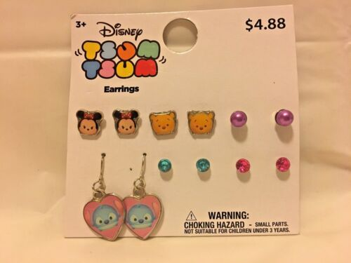 "Disney /""Tsum Tsum/"" Earrings 6 pack"