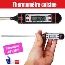 Thermomètre de Cuisine cuisson pro : viande liquide gâteau sonde écran digitale