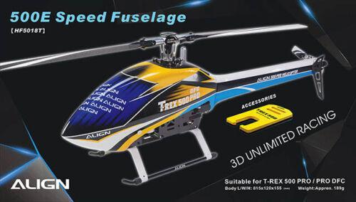Bleu /& Blanc HF5018T Align T-Rex 500E PRO Speed fuselage