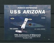 Gambia 2016 MNH Famous Shipwrecks USS Arizona 1v S/S Memorial Pearl Harbour