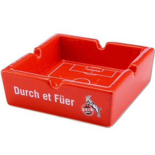 FC Köln Feuerzeug Rubber Turbo Jet Flame Aschenbecher rot Sturmfeuerzeug FC 1