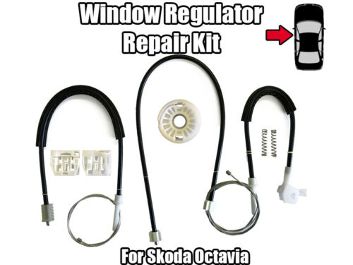 1x Window Regulator Repair Kit For Skoda Octavia Front Left Door 2004-2008