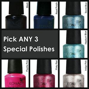 Image Is Loading Konad Nail Art Stamping Polish Pick Any 3x