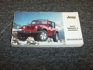 2007 jeep wrangler unlimited x owners manual