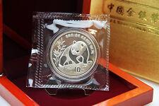 CHINA - 1 oz Silberpanda 1990 in der Originalfolie inkl. Box - TOP ERHALTUNG