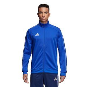 01c0ac211aa7 Das Bild wird geladen Adidas-Core-Full-Zip-Trainingsanzug-Track-Top-Jacke-