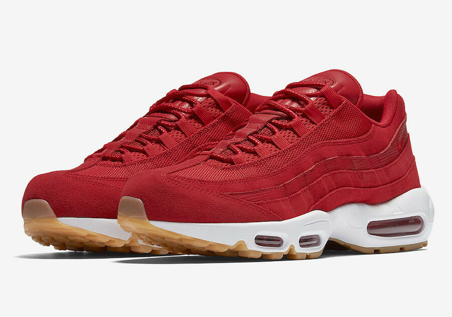 NIKE AIR MAX 95 PRM  RED GUM    MEN'S US SIZE 8 STYLE fce262