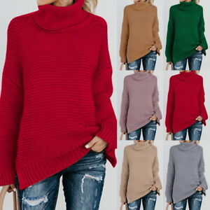 83334c6b01c Image is loading Warm-Winter-Turtleneck-Sweater-Women-Pullover-Thick-Knitted -