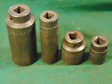 4 Pieces Lot Of Mac Tools Co 12 Drive 6 Point Impact Sockets Made In Usa