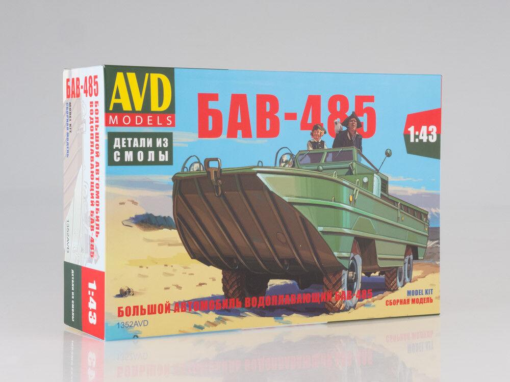 Modelo para el montaje de 1/43 grandes grandes grandes waterfowing BAS-485 coche 0dc827