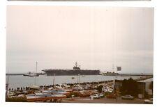 photo porte avion USS AMERICA  LE HAVRE 1989  (c5)