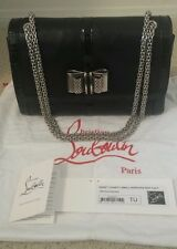 d409cd534f CHRISTIAN LOUBOUTIN SWEET CHARITY BLACK NAPPA PATENT LEATHER BAG  Auth
