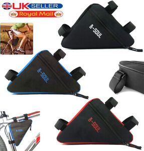 Waterproof-Triangle-Cycling-Bike-Bicycle-Front-Tube-Frame-Saddle-Bag-Phone-Pouch