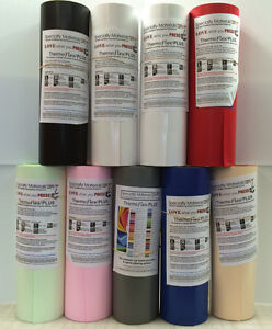 """Thermoflex Plus 15"""" by 3 Feet 11-Colors Heat Transfer Vinyl Specialty Material"""