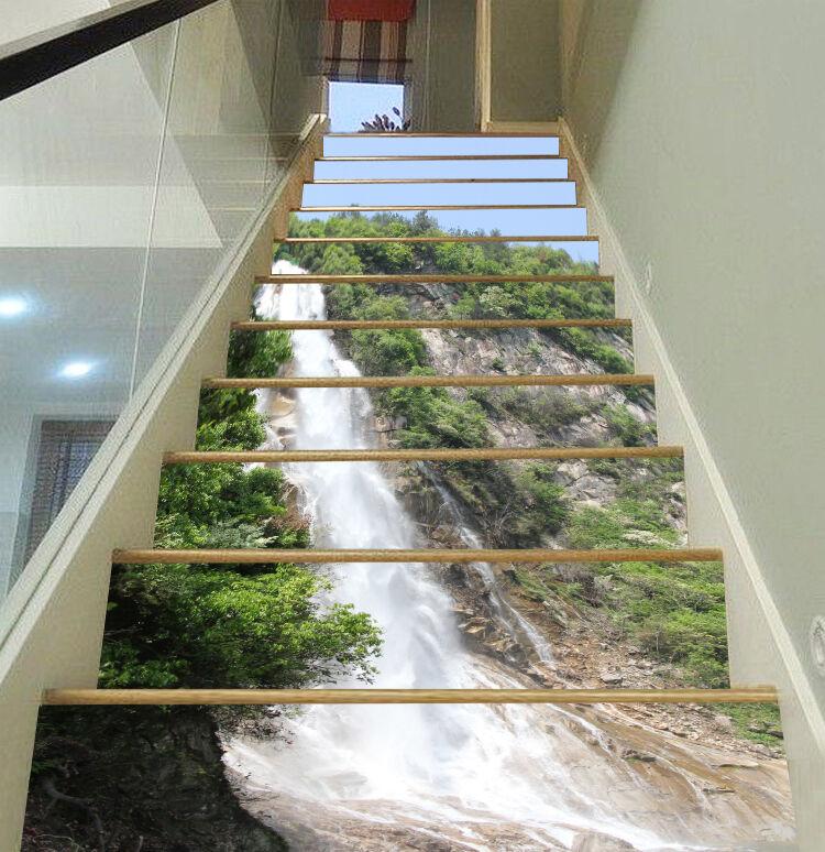 3D pente Falls 53 contremarches Décoration Photo Murale Autocollant Vinyle Papier Peint UK