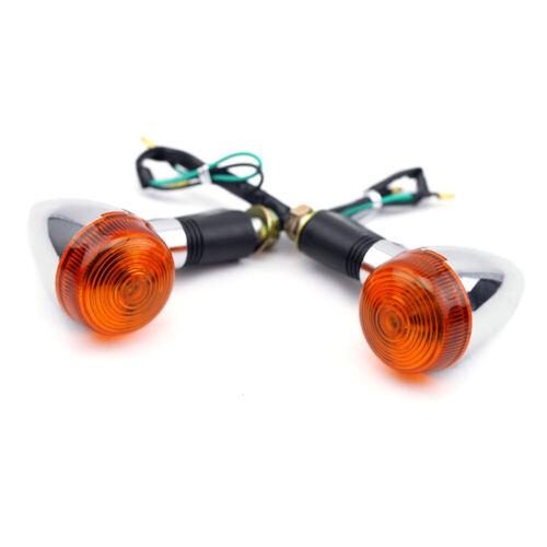 Front Rear Turn Signal Light Lamp For YAMAHA XV 250S400//535//750//1100 Virago