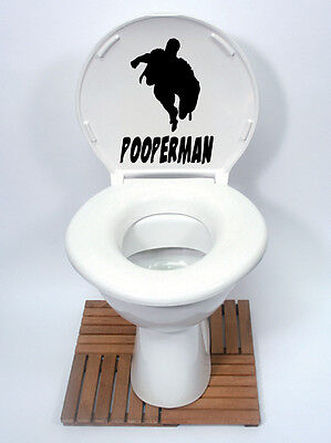 spiderman Sticker pooperman style funny Toilet Seat Vinyl Decal black superhero