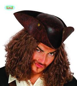 ottima vestibilità metà fuori migliori offerte su Cappello da Corsaro Tricorno Lusso Travestimento Pirata Uomo ...