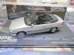 OPEL-Astra-F-Cabrio-Cabriolet-silber-Bertone-1998-IXO-Altaya-Sonderpreis-SP-1-43