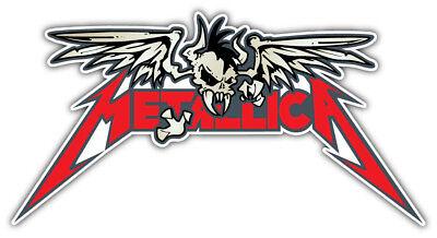 3/'/' or 5/'/' Metallica Zipper Music Car Bumper Sticker Decal