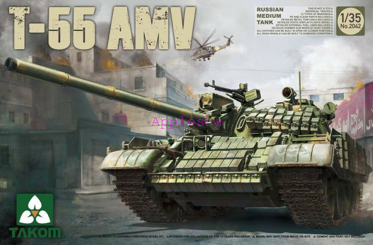 Takom 2042 1 35 Russian Medium Tank T-55AMV