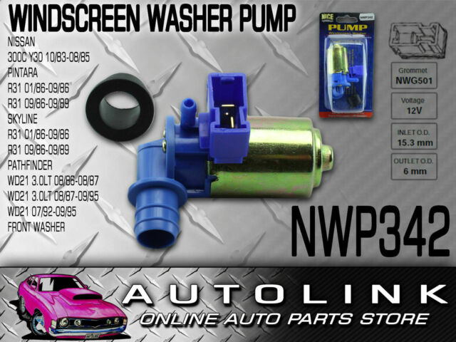 WINDSCREEN WASHER PUMP FOR NISSAN PATHFINDER WD21 3.0lt 2 PIN NWP342 x1