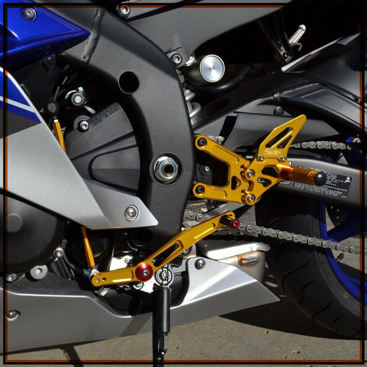 /2009/2010/2011/2012/nuovo Moto nero posteriore passeggero pedane per Yamaha YZF R6/2006/