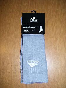 adidas-Sportsocken-Socken-3er-Pack-grau-hellgrau-Groesse-44-46-neu