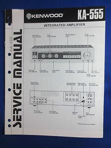 kenwood ka 555 integrated amplifier service manual factory original rh ebay com kenwood amplifier manual kenwood amplifier service manual