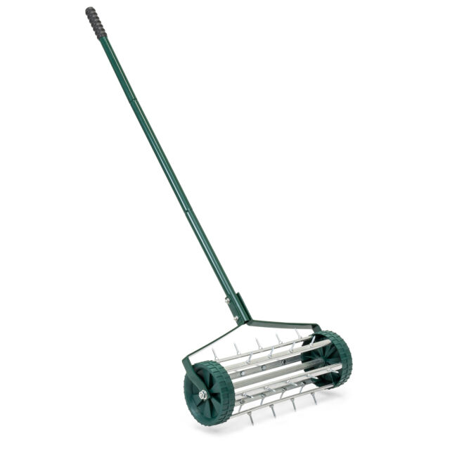 Lawn Aerator For Sale >> 18in Rolling Lawn Aerator W Tine Spikes Dark Green