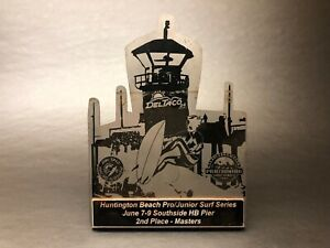 Vintage-Surf-Series-HUNTINGTON-BEACH-Pro-Am-2nd-Place-Surfing-Trophy-USA