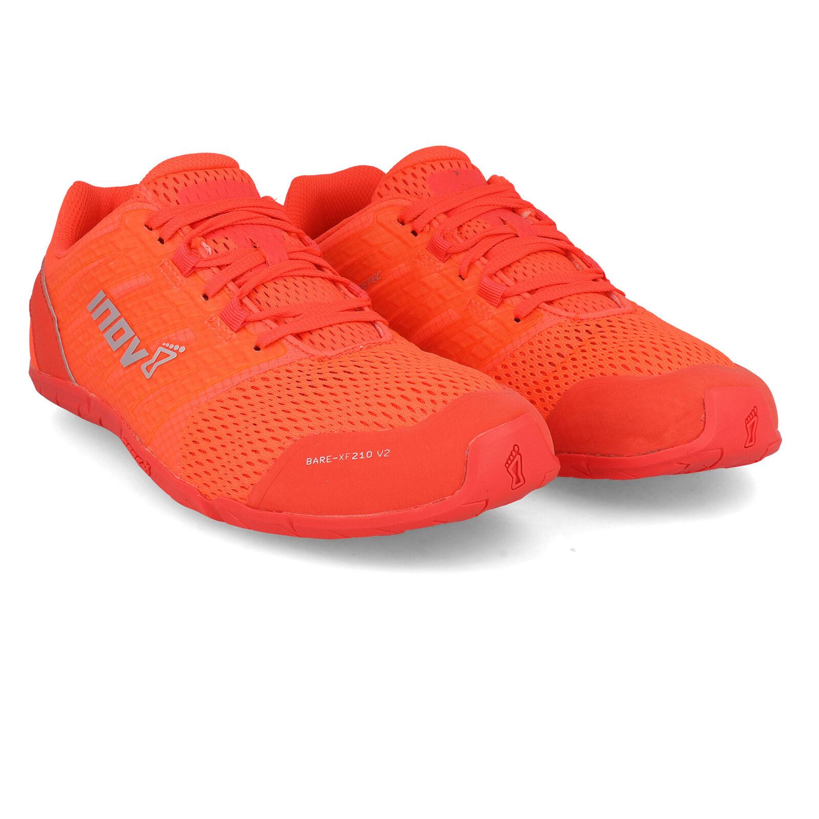 Inov8 Damen Bare XF 210 V2 Trainingsschuhe Fitness Sport Schuhe Turnschuhe Orange