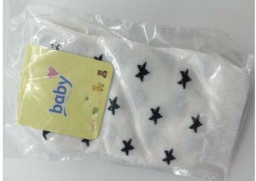 Girl Kid baby Stars knees Calf High Cotton long Socks Tights protector 0-12month