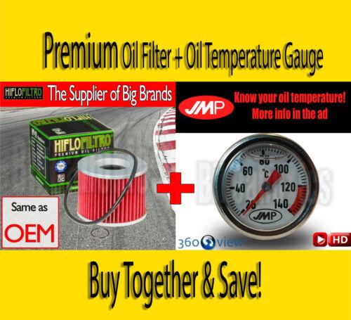 1988 Yamaha FZX 750 Fazer Premium Oil Filter /& Oil Temperature Gauge HF401