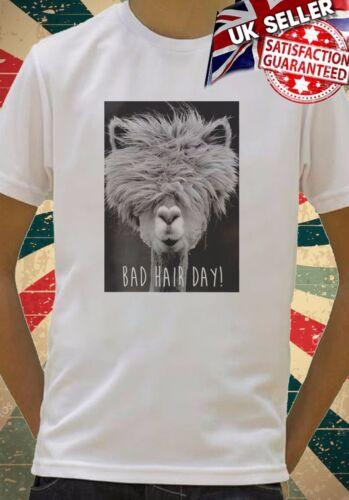 Bad Hair Day LLama Lama Hipster Funn Kids Boys Girls Unisex  Gift T-Shirt 531