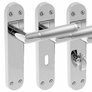 Image Is Loading Mitred Internal Door Handle Sets Lever On Backplate