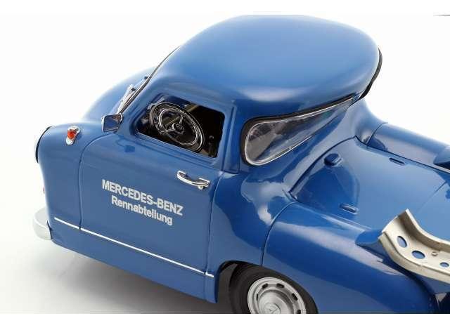 IScale 118006 Mercedes race transporter transporter transporter 1955 modèle  The bleu Wonder  1 18th 7d9057