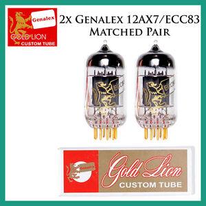 New 2x Genalex Gold Lion 12AX7 / ECC83 | Matched Pair / Duet / Two Tubes