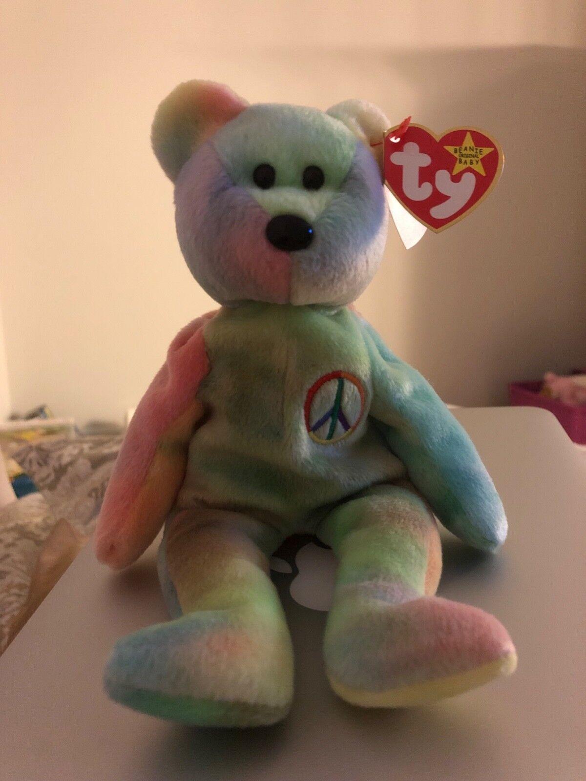 TY Beanie Baby PEACE the BEAR 1996 ERROR ERROR ERROR BEAR - Mint condition. ec5f5b