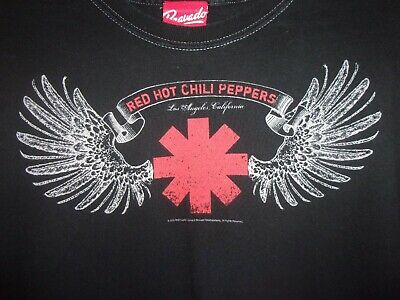 """RED HOT CHILI PEPPERS /""""DRIP STRIPS/"""" BLACK T SHIRT NEW OFFICIAL ADULT"""