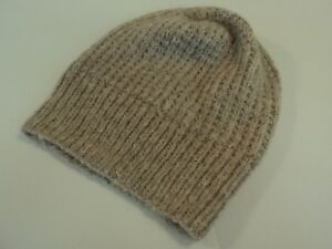 2a09c57b9cb Image is loading Handcrafted-Reversible-Slouchy-Hat-Beige-With-Sparkles- Merino-
