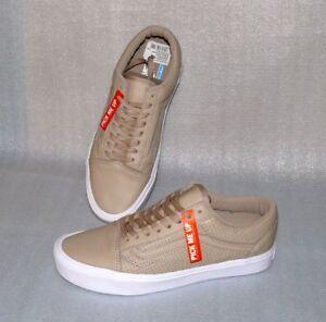 Old Perf 9 Vans Us Details Weiß Sneaker Leder Beige 42 Skool Herren Zu Freizeit Lite Schuhe L34j5RA