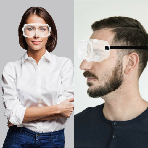 Protective Over Glasses Anti Fog Safety Goggles Work Lab Eye Protection US Stock