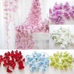 Am-CO-BL-KQ-Artificial-Fake-Cherry-Blossom-Vine-Flower-Plant-Wedding-Party-H