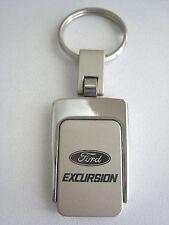 New Ford Excursion Sq Metal Logo Key Chain Ring Fob. Handsome, Quality Keychain