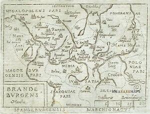 1667 Map Brandenburg BERLIN Marchetti Ortelius Poland Szczecin