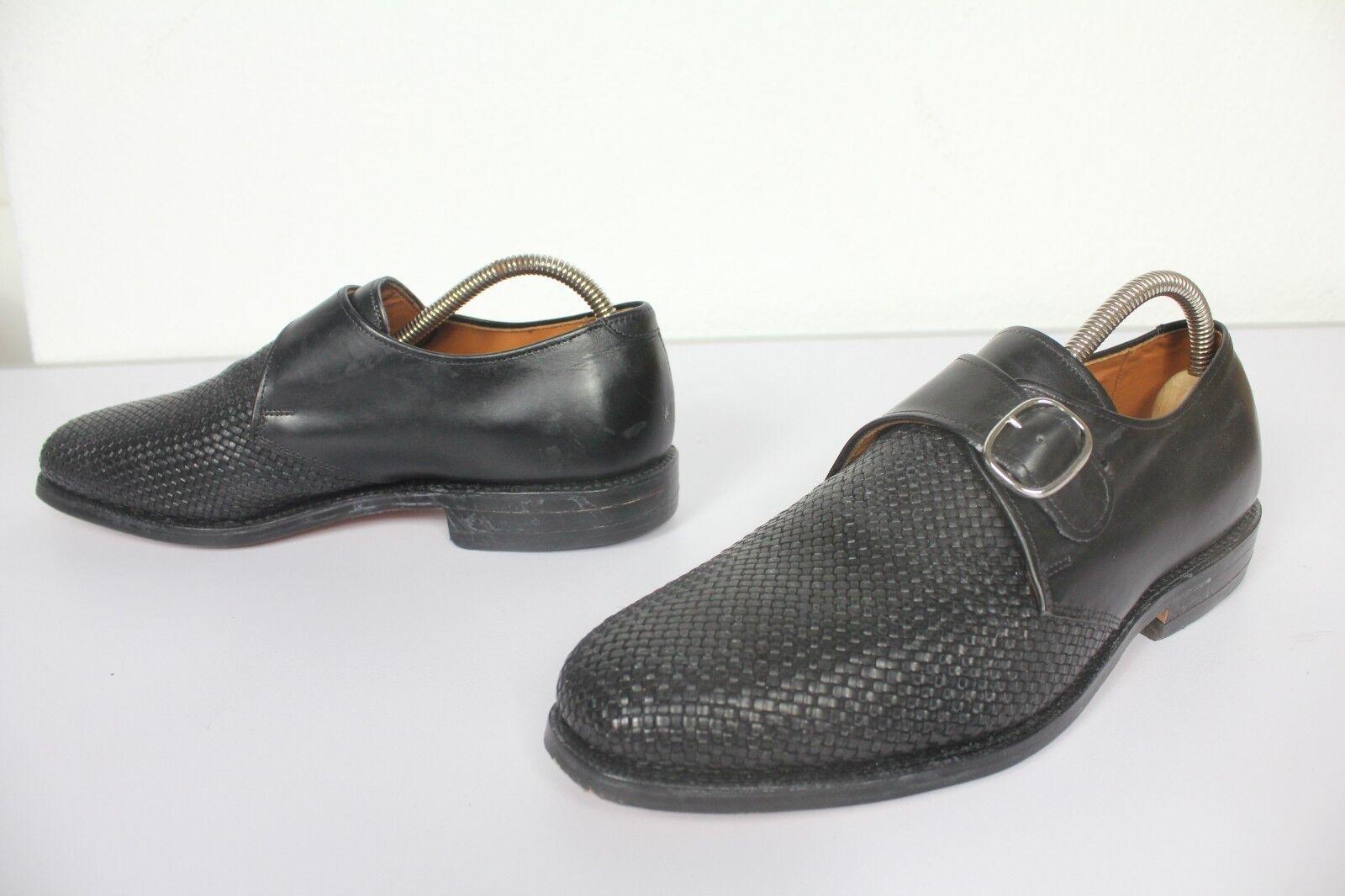 Allen edmonds elegante Monk mocasines zapatos caballero negro us 7, 5-eu 41 -- como nuevo
